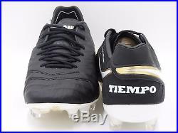 Nike Tiempo Legend VI FG Soccer Cleats 819177-010, Black/White, Men's 9-11