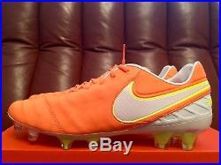 Nike Tiempo Legend VI FG Soccer Cleats Tart White Volt 819256-817 Men's Size 9