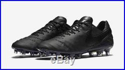 Nike Tiempo Legend VI FG size 7 Academy Pack Black/Black