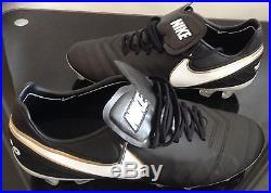Nike Tiempo Legend VI Fg Football Boots Black-white-gold Sizes Uk 6 To Uk 8