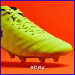 Nike Tiempo Legend VI Fg Soccer Cleats Size 8 Volt Black 819177-707