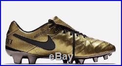 Nike Tiempo Legend VI SE AA0612-706 TOTTI X ROMA Gold Soccer Cleats Size 9