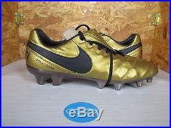 best service cb245 d7ff6 Nike Tiempo Legend VI SE FG AA0612-706 TOTTI X ROMA Gold ...