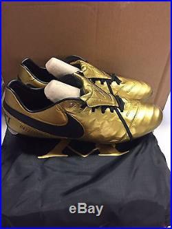 Nike Tiempo Legend VI SE FG AA0612-706 TOTTI X ROMA Gold Soccer Cleats Size 11