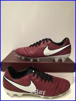 Nike Tiempo Legend VI SE FG Andrea Pirlo Merlot Soccer Cleat Size 8.5 835364 601
