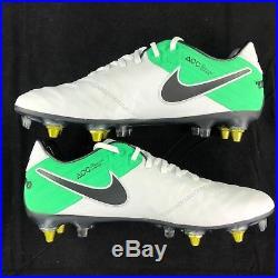 b00f0969d Nike Tiempo Legend VI SG-Pro AC White Black Soccer Cleats 869483-104 Men s