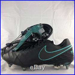 0bdb27ee20b Nike Tiempo Legend VI SG-Pro Black Turquoise Soccer Cleats 819680 ...