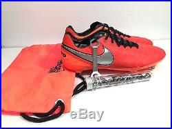 d4d2bdb09 Nike Tiempo Legend VI SG Pro Soccer Cleats Mens Red Orange Size 10