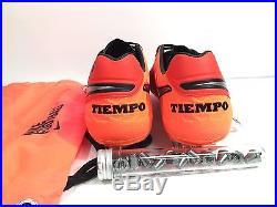 Nike Tiempo Legend VI SG Pro Soccer Cleats Mens Red Orange Size 10