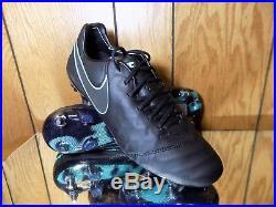 Nike Tiempo Legend VI SG-Pro Soccer Cleats Size 9.5 Black/Turq 819680-004