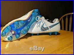 Nike Tiempo Legend VII 7 Elite AG Pro Soccer Cleats White Blue SZ 9 (AH7423-108)