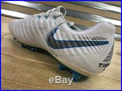 Nike Tiempo Legend VII 7 Elite AG Soccer Cleats White Blue SZ (AH7423-108)