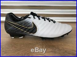 Nike Tiempo Legend VII 7 Elite FG ACC Soccer Cleats White Gold SZ (AH7238-100)