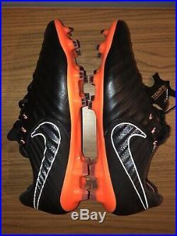 Nike Tiempo Legend VII 7 Elite FG Black Orange AH7238-080 Size 10.5