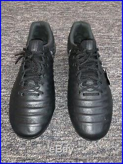 Nike Tiempo Legend VII 7 Elite FG Soccer Cleats Black AH7238-001 Mens Size 8