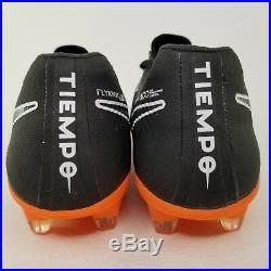 Nike Tiempo Legend VII 7 Elite FG Soccer Cleats Size 8 Mens Boots Black Orange