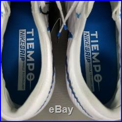 Nike Tiempo Legend VII 7 Elite SG ACC Soccer Cleats Size Mens Boots White Blue
