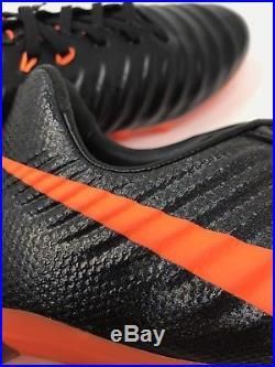 Nike Tiempo Legend VII 7 Pro FG Cleats Sz 10 Orange Black Sample AH7241 080