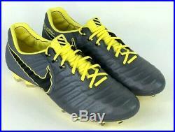 Nike Tiempo Legend VII Elite FG Soccer Cleats Dark Grey AH7238-070 Sz 9.5