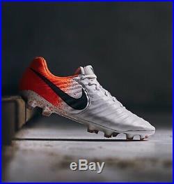 Nike Tiempo Legend VII Elite FG White/Black/Hyper Crimson UK 8 (FT211)