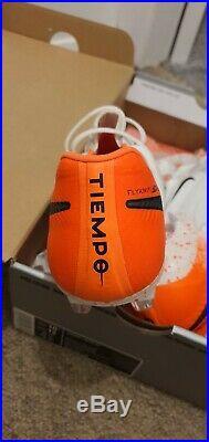 Nike Tiempo Legend VII Elite FG White / Orang UK Size 9.5