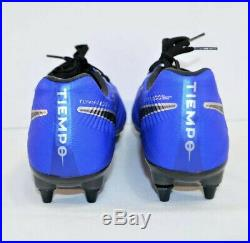 Nike Tiempo Legend VII Elite SG ProSoccer Cleats Blue Black SZ 10 (AR4387-401)
