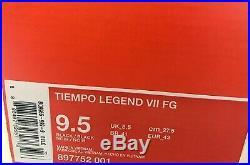Nike Tiempo Legend VII FG ACC Premium BLACKOUT UK 8.5 US 9.5 EU 43, 897752 001