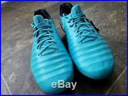 Nike Tiempo Legend VII FG ACC Soccer Cleats Glacier Blue 897752-414 Sz 9.5 RARE