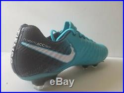 Nike Tiempo Legend VII FG Ice Blue Size 9.5 Soccer Cleats Flyknit ACC 897752-415