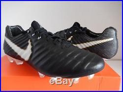 Nike Tiempo Legend VII Fg Black-white-black Sz 9.5 897752-002