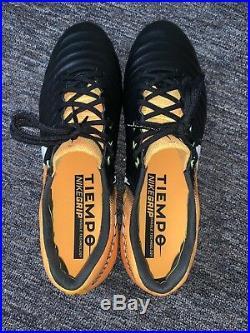 Nike Tiempo Legend VII SG-Pro Mens Soccer Cleats Black/Yellow 897753-009 Sz 10.5
