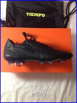 Nike Tiempo Legend Vi Academy Pack Black Soccer Cleats Size 10 Rare  210 d2319f8ff693a