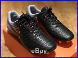 Nike Tiempo Legend Vii Fg Acc Flyknit Uk 7 Eur 41 Us 8 Black Pink New Top Spec