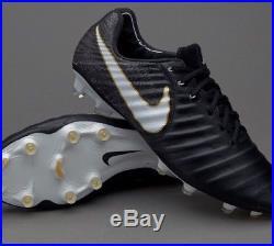 Nike Tiempo Legend vii FG Black Boots Size 9.5 UK