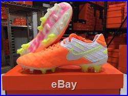 Nike Women's Tiempo Legend VI FG Soccer Cleats (Tart/White) Size 9.5 DEMO