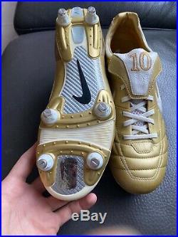 Nike Zoom Air Legend Ronaldinho Tiempo Gold R10 Soccer Cleats US 8.5 BRAND NEW