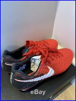 Nike tiempo legend vii elite SG Red & Black Size 9.5 UK