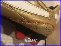 RARE! Nike Ronaldinho Dois FG GOLD Metallic Kangaroo Tiempo Legend Elite SZ 9.5