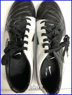 Rare Nike Tiempo Legend V FG -Black/Wht Mens Size 8 631518-010 Soccer Used Once