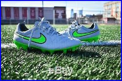Rare Nike Tiempo Legend V FG Silver Storm Pack Size 10 ACC