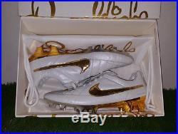 Rare Nike Tiempo Legend V FG Touch of Gold R10 Ronaldinho Limited Edition Totti