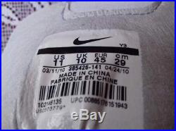 Rare Nike Total90 LASER III FG 385426 141 Size 11 US tiempo vapor legend