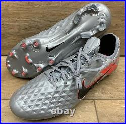 SIZE 10.5 Nike Tiempo Legend 8 Elite FG Mens Silver Soccer Cleats AWESOME