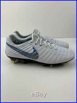 SZ 10 Nike Tiempo Legend VII Elite SG-Pro AH7253-108 White / Blue Anticlog