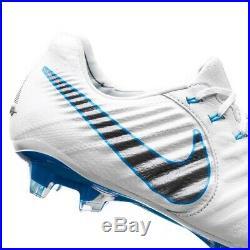 Size 6 Nike Tiempo Legend 7 VII Elite FG Wht/Grey/Blue Boots AH7238-108