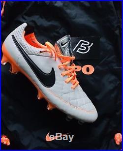 Tiempo Legend V FG Desert Sand / Orange Football Boots UK Size 7.5